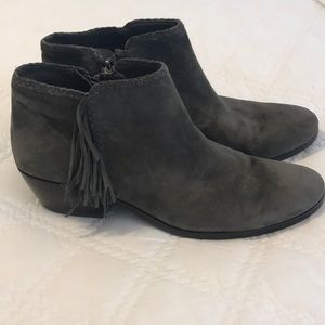 💕Sam Edelman grey tasseled booties! 💕